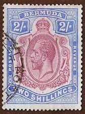 ART PRINT POSTER STAMP BERMUDA KING GEORGE POSTAGE NOFL1068