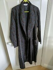 Vintage M/S silky Paisley dressing gown smoking jacket Medium