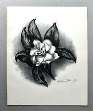 """Original Signed VICTORIA HUTSON HUNTLEY Lithograph """"Gardenia"""" 1931 The Colophon"""