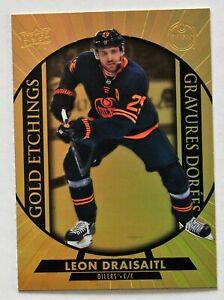 2020-21 Tim Hortons; Gold Etchings G-14 Leon Draisaitl Edmonton Oilers