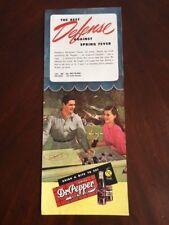 """1947, Dr. Pepper, Set of (4) Vintage Ads.  5"""" x 12"""" (Scarce / Vintage)"""