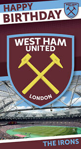 West Ham Official Birthday Card - FREE 1ST CLASS POSTAGE (WH001)