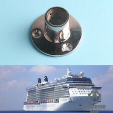 316 Stainless Steel Boat Hand Rail Fitting 90 Degree Round Stanchion Base Marine