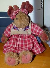 """Boyds Bears and Friends 12"""" Brown Moose Martini Artisan Series 91109 1990-98"""