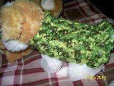 XXXS LUCKY SHAMROCKS Angora Blend Dog Sweater/Dress w/Ruffles