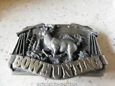 BOWHUNTING BUCK DEER BELTBUCKLE BERGMOT BRASS WORKS*1983 *