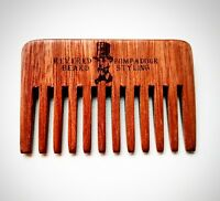 Streaker Comb. Wide toothed Pompadour Hair & Beard pocket Comb by Revered Beard