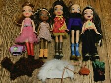 Lot of 5 MGA Lil BRATZ Dolls  All Dressed with Shoes