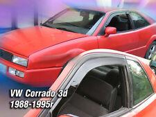 VW Corrado 3 PORTE 1988-1995 serie di deflettori vento anteriore 2pc HEKO colorata