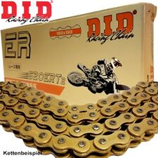 DID Kette Aprilia MX125 Supermotard Bj.2007 TZ Rennkette 520ERT3 gold Clip