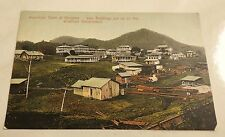 antique postcard AMERICAN TOWN at GORGONA PANAMA Central America canal zone era
