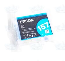 Genuine Epson 157 Cyan Ultrachrome K3 Ink T157 T1572 T157220 Stylus Photo R3000