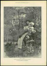"""1888 - Antique Print FINE ART """"For Faith and Freedom"""" Walter Besant (030)"""