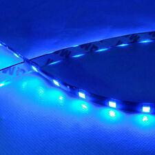 2PC Blue 12V Car Decor Waterproof 12 LED 30cm 5050 SMD Strip Flexible Light