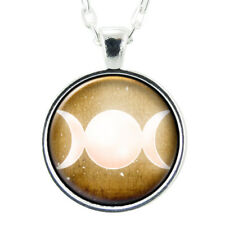 Triple Goddess Necklace, Witch Aesthetic Jewelry, Pastel Goth Wiccan Witchy