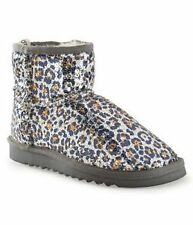 Women's Animal Print Slipper Booties