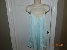 Vintage Babydoll Blue gown nightie lingerie M bust 34 Sissy 100% Nylon pearls