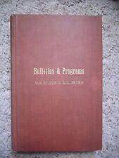 19008-9 Detroit First Presbyterian Church Bulletins and Programs