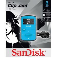 SanDisk-Sansa-Clip-Jam-8GB-MP3-Player-FM-Radio-Music-USB-MicroSD-Slot-Blue-NEW