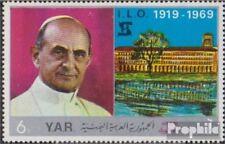 Nordjemen (Arabische Rep.) 919 (kompl.Ausg.) postfrisch 1969 Papst Paul VI.