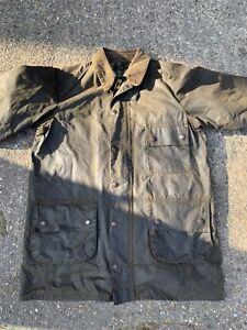 Vintage 80s Barbour solway zipper wax jacket C42 in chest 2 Crown