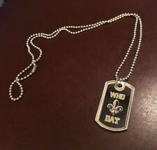 "New NFL New Orlean Saints ""Who Dat"" (Unisex) Dog Tag Necklace (14 Available)"