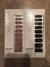 NEW 2 ESSIE Sleek Stick UV Cured Nail Art Applique A to Zebra, Croc'n Chic