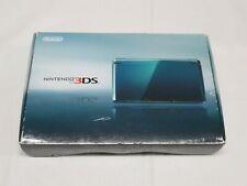 D394 Nintendo 3DS console Aqua Blue Japan NDS w/box adapter stylus pen
