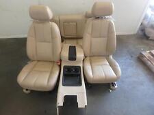 07-14 GMC SIERRA SILVERADO 2500 3500 FRONT REAR SEAT TAN LEATHER POWER HEATED