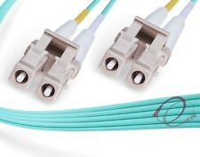 OM3 LC-LC 10Gb 50/125 Multimode Duplex Fiber Optic Cable - [ 0.5 Meter ]