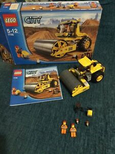 Lego City 7746 Single Drum Roller Complete With Box Construction Set
