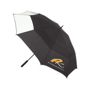 PowaKaddy Doppelbespannung Clearview Regenschirm Groß Golf Regen Wind Wasserfest