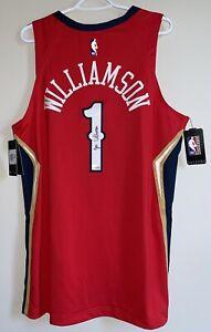 Zion Williamson Signed Pelicans Nike NBA Authentic Vaporknit Jersey FANATICS COA