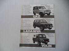 advertising Pubblicità 1987 UAZ/LADA NIVA/VOLIN