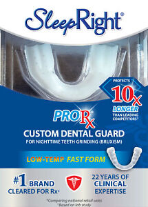 SleepRight ProRx Dental Guard Low Temp Fast Form For Night Time Teeth Grinding