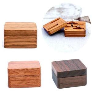 Vintage Men Suit Wooden Cufflink Gift Box Wood Jewelry Keepsake Storage Boxes