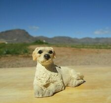 Stone Critters Littles, Golden Retriever Dog Figurine, Laying Position head Up
