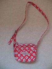 Girls Cath Kidston Red Heart Oil Cloth Small CrossBody / Shoulder Bag