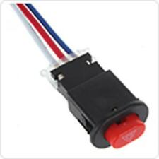 Motorcycle Double Flash Dangerous Lamp Mini Switch with 3 Wires Built-in Lock