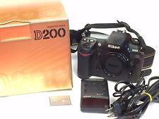 Nikon D D200 10.2MP Digital SLR Camera - Black (Body Only) 19k shots, boxed