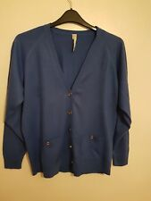 NOTE - Ladies Womens Girls Lovely Long Sleeved Blue Cardigan Size 12/14