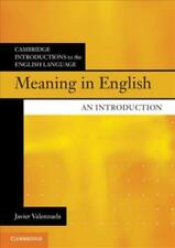 MEANING IN ENGLISH - VALENZUELA, JAVIER - NEW PAPERBACK