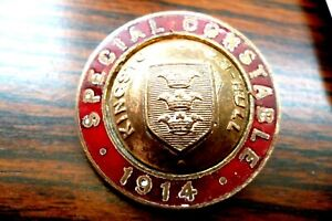 POLICE SPECIAL CONSTABLES BADGE--KINGSTON UPON HULL--PARTLY ENAMELLED