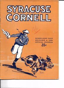 1946 Cornell-Syracuse Program Orangemen Nip Big Red NICE!!