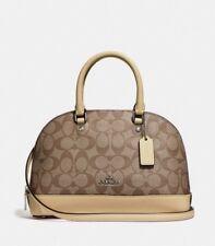 a6f7ca30fc71 NWT Coach 27583 mini Sierra Satchel handbag Signature PVC Khaki Vanilla