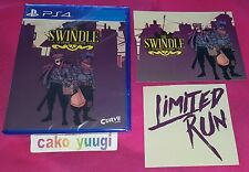THE SWINDLE SONY PS4 VERSION US LIMITED RUN #40  + FLYERS NEUF NEW SEALED