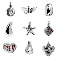 Teardrop/Starfish/Butterfly/Eagle Cremation Urn Stainless Steel Pendant Necklace