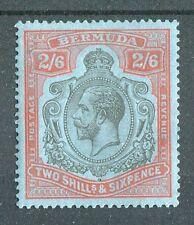 Bermuda KGV 1924-32 2s6d grey-black & pale orange-vermilion SG89h LMM w/Certs