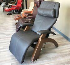 HT Walnut Wood PC-610 Omni-Motion Classic Zero Gravity Chair Espresso Leather