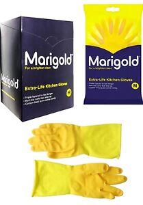 Marigold Rubber Gloves Genuine Kitchen, Bathroom, Extra Tough Outdoor All Sizes